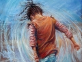 Freedom, pastel by Rebecca de Mendonca. Size framed approx 93 x 77cm £850