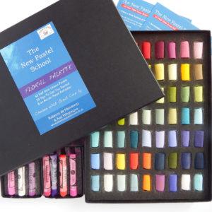 Nel's Floral Set of 63 Unison half pastels, and 7 Sennelier pastels, £162 plus p&p